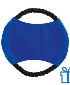 Hondenfrisbee blauw bedrukken