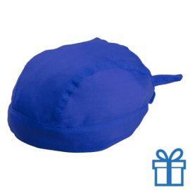 Hoofddoek stoer blauw bedrukken