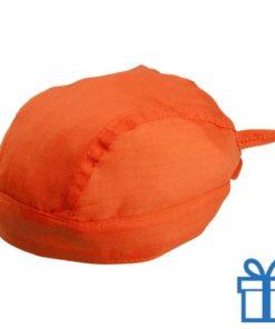 Hoofddoek stoer oranje bedrukken