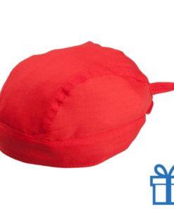 Hoofddoek stoer rood bedrukken
