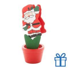 Houten clip kerstman bedrukken