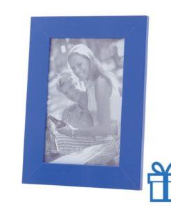 Houten fotolijstje blauw bedrukken