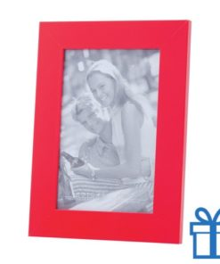 Houten fotolijstje rood bedrukken