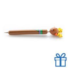 Houten jolly pen sneeuwpop bedrukken