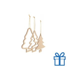 Houten kerstboomhanger kerstboom 3 in 1 bedrukken