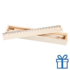 Houten kleurpotloden houten geschenkbox bedrukken