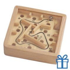 Houten labyrinth spel bedrukken