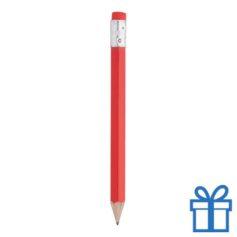 Houten mini potlood gum rood