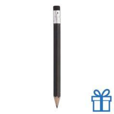 Houten mini potlood gum zwart