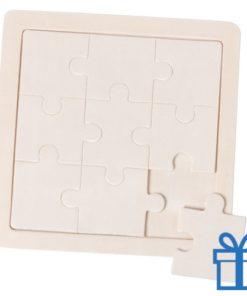 Houten puzzel kind bedrukken