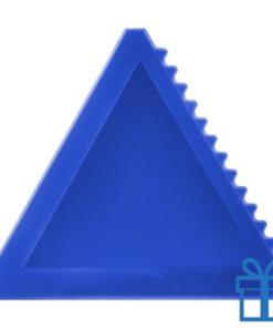 Ijskrabber driehoek blauw bedrukken