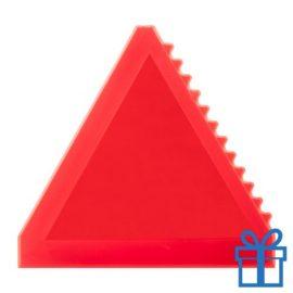 Ijskrabber driehoek rood bedrukken