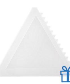 Ijskrabber driehoek wit bedrukken