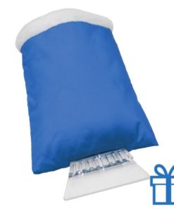 Ijskrabber goedkoop plastic blauw bedrukken