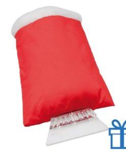 Ijskrabber goedkoop plastic rood bedrukken
