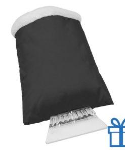 Ijskrabber goedkoop plastic zwart bedrukken