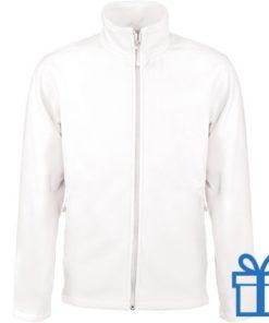 Jas fleece ritszak L wit bedrukken