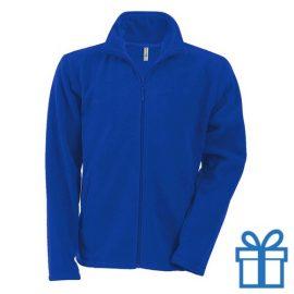 Jas fleece ritszak XL blauw bedrukken