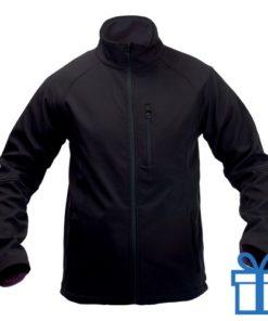 Jas softshell 3 zakken S zwart bedrukken