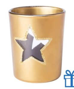 Kaars kerstdesign goud