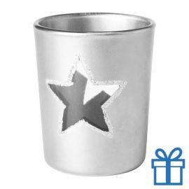 Kaars kerstdesign zilver