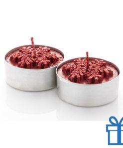 Kaarsen set van 2 rood