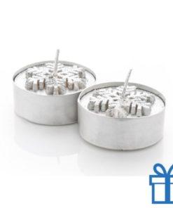 Kaarsen set van 2 zilver