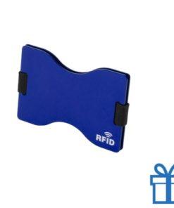 Kaarthouder aluminium blauw