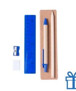 Kantoorsetje blauw bedrukken