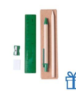 Kantoorsetje groen bedrukken