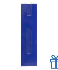 Kartonnen pennenhoes blauw