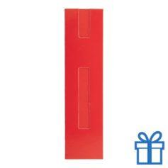 Kartonnen pennenhoes rood