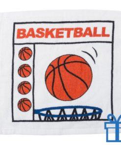 Katoenen handdoek basketbal bedrukken