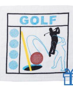 Katoenen handdoek golf bedrukken