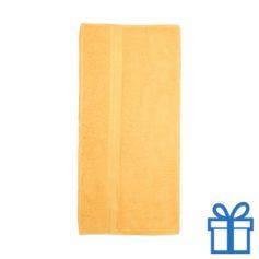 Katoenen handdoek groot geel bedrukken