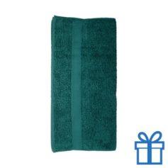 Katoenen handdoek groot groen bedrukken