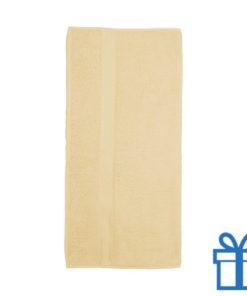 Katoenen handdoek groot lichtgeel bedrukken