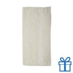Katoenen handdoek groot naturel bedrukken