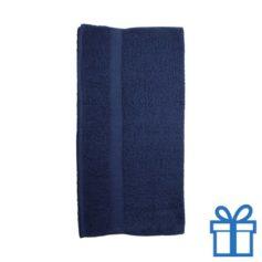 Katoenen handdoek groot navy bedrukken