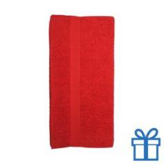 Katoenen handdoek groot rood bedrukken