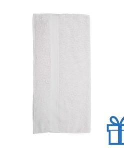 Katoenen handdoek groot wit bedrukken