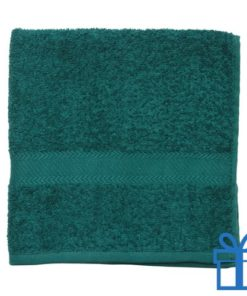 Katoenen handdoek medium groen bedrukken