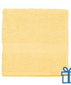 Katoenen handdoek medium lichtgeel bedrukken