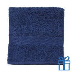 Katoenen handdoek medium navy bedrukken