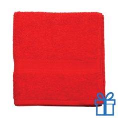 Katoenen handdoek medium rood bedrukken
