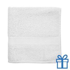 Katoenen handdoek medium wit bedrukken