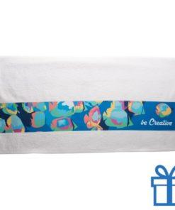 Katoenen handdoek op maat groot wit bedrukken