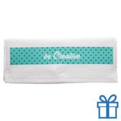Katoenen handdoek op maat klein wit bedrukken