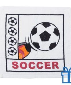 Katoenen handdoek voetbal bedrukken