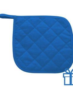 Katoenen pannenlap blauw bedrukken